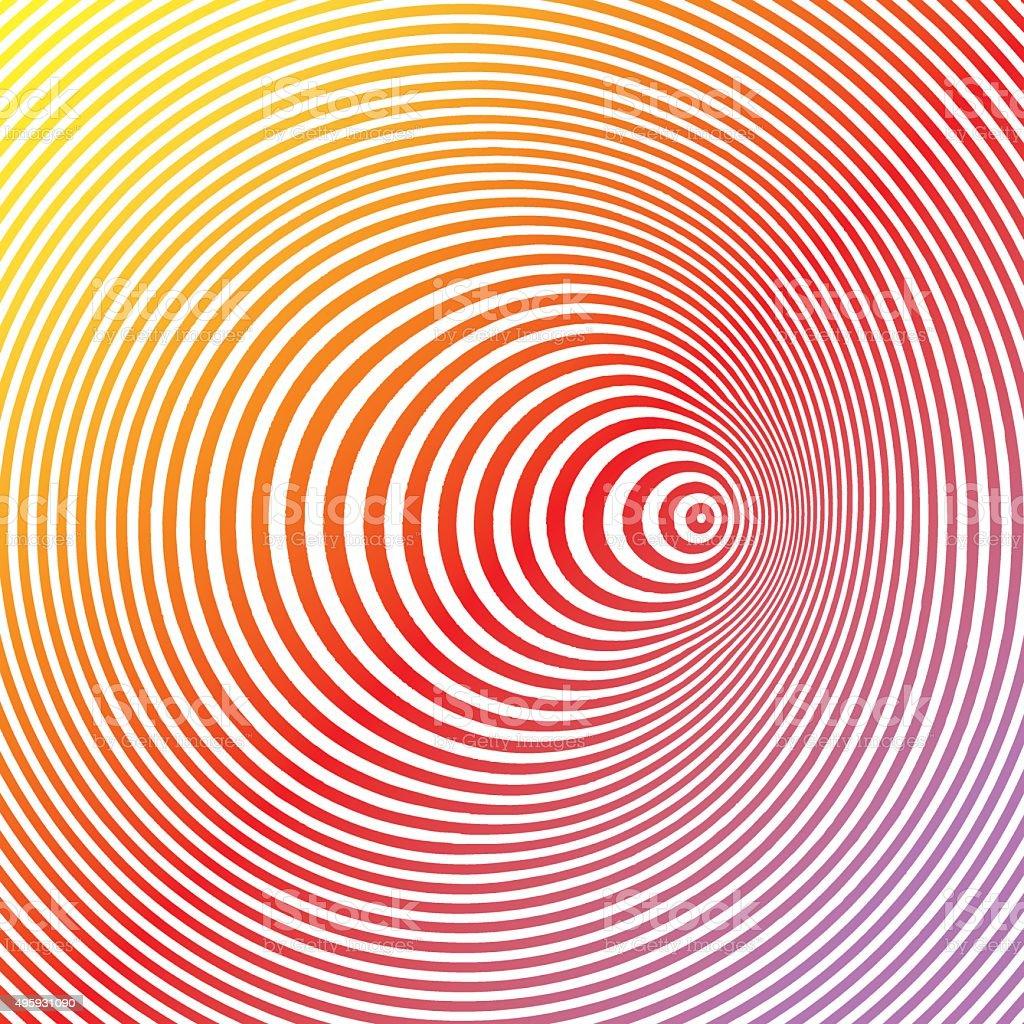 Colorful Pop Art Halftone Pattern Concentric Circles vector art illustration