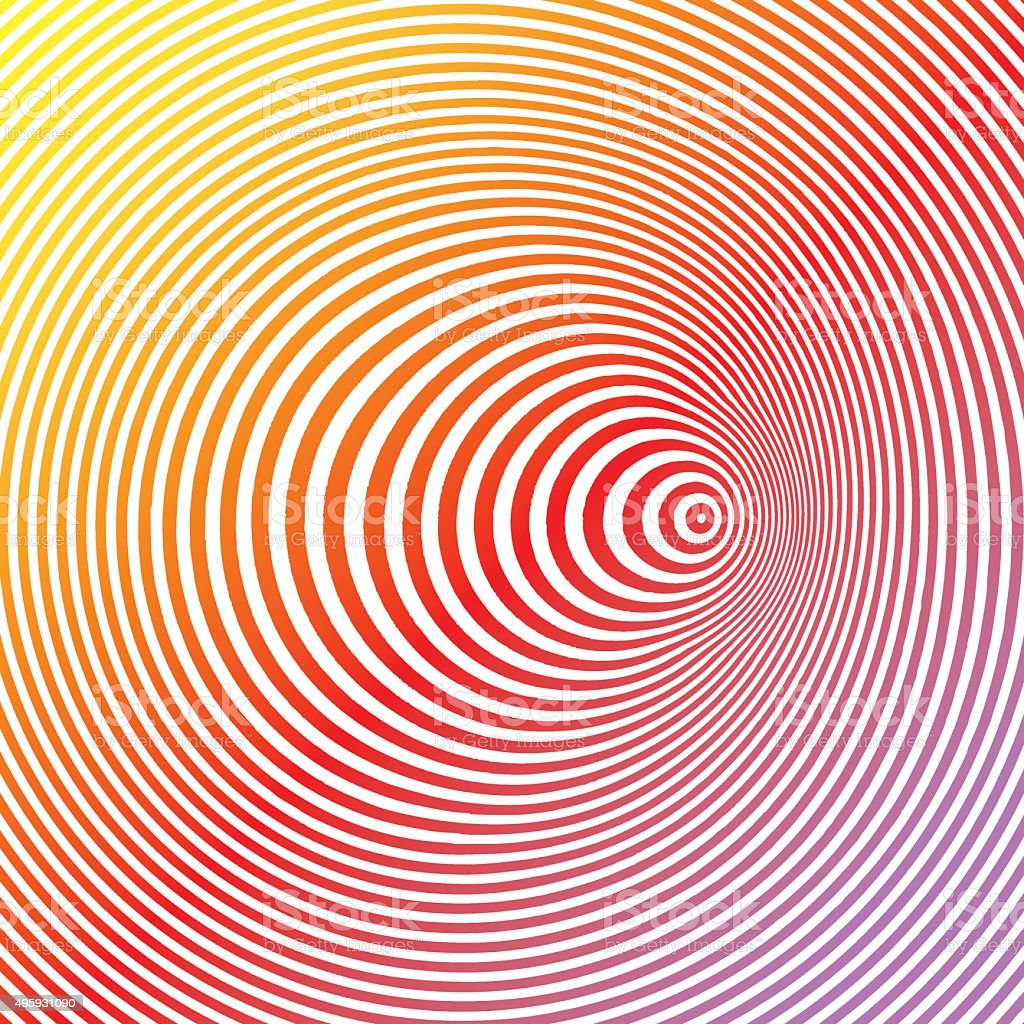 Colorful Pop Art Halftone Pattern Concentric Circles vector art illustration