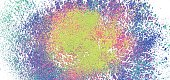 Colorful powder blast