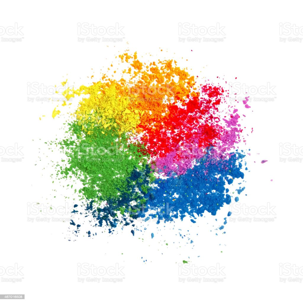 Colorful Powder Paint vector art illustration