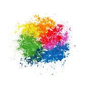 Colorful Powder Paint
