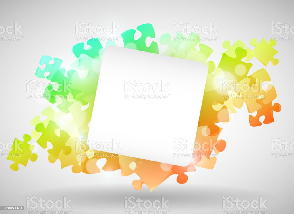 Colorful Puzzle Design royalty-free stock vector art