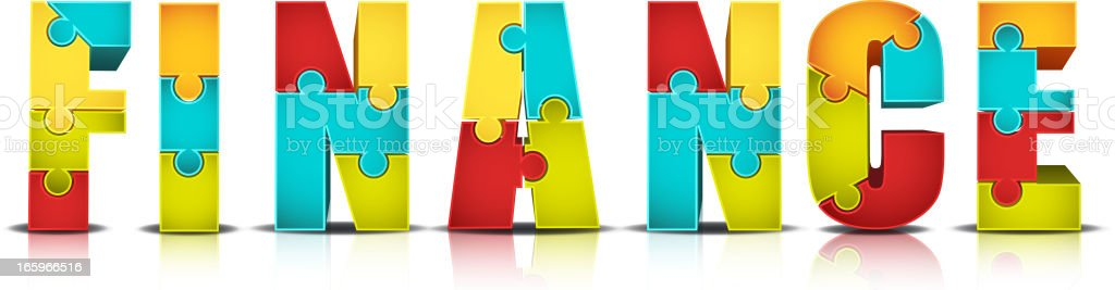 Colorful Puzzle royalty-free stock vector art