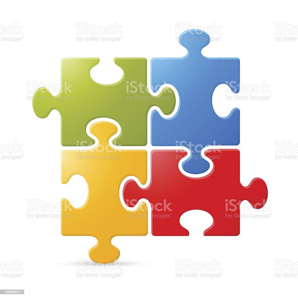 Colorful Puzzle Vector Illustration vector art illustration