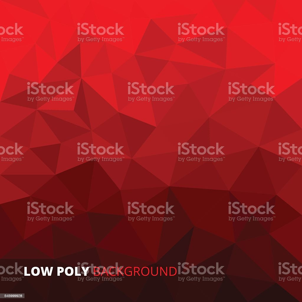 Colorful red abstract geometric rumpled triangular low poly style vector vector art illustration