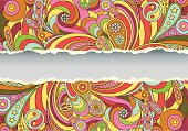 Colorful retro psychedelic illustrated background