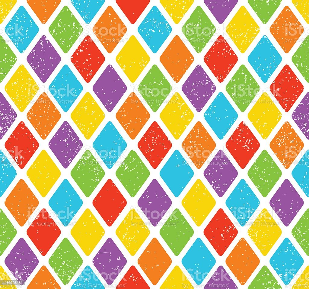 Colorful Rhombus Pattern vector art illustration