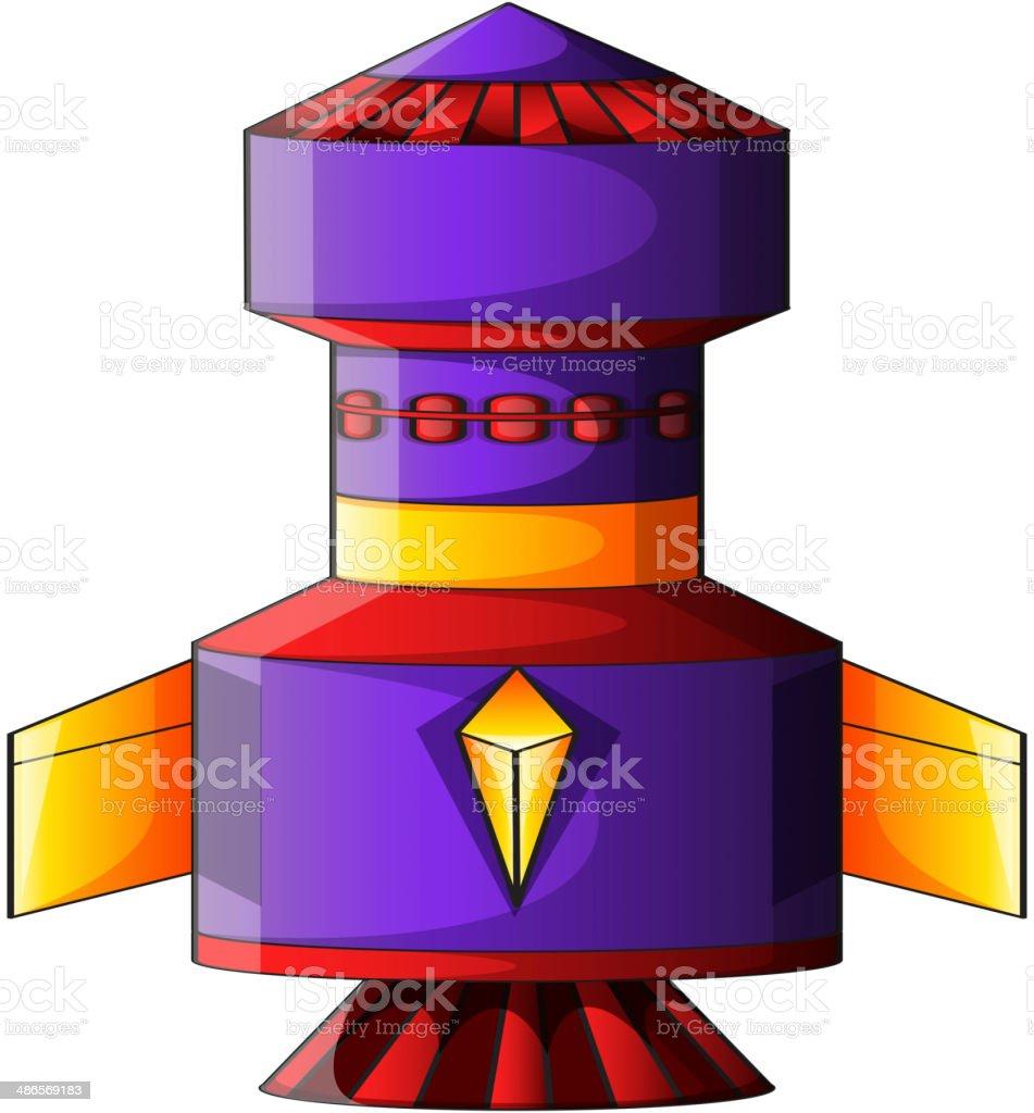 colorful rocket royalty-free stock vector art