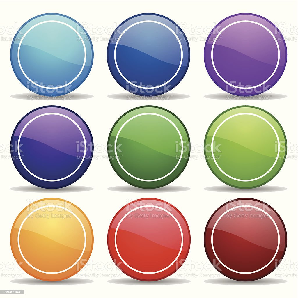 Colorful round buttons royalty-free stock vector art