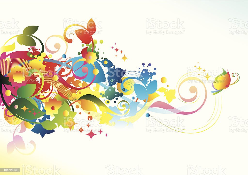 Colorful scroll royalty-free stock vector art