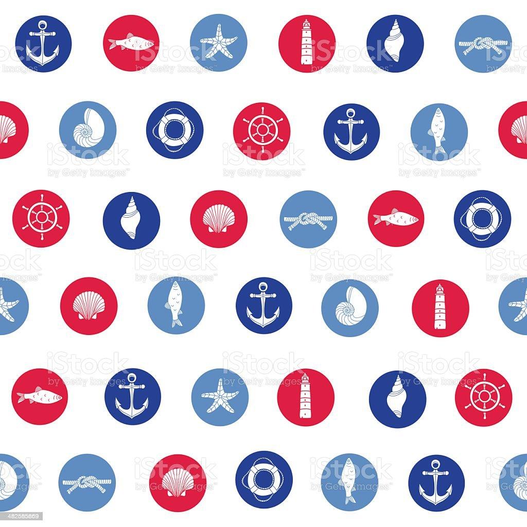 Patrón sin costuras colorida al mar. illustracion libre de derechos libre de derechos