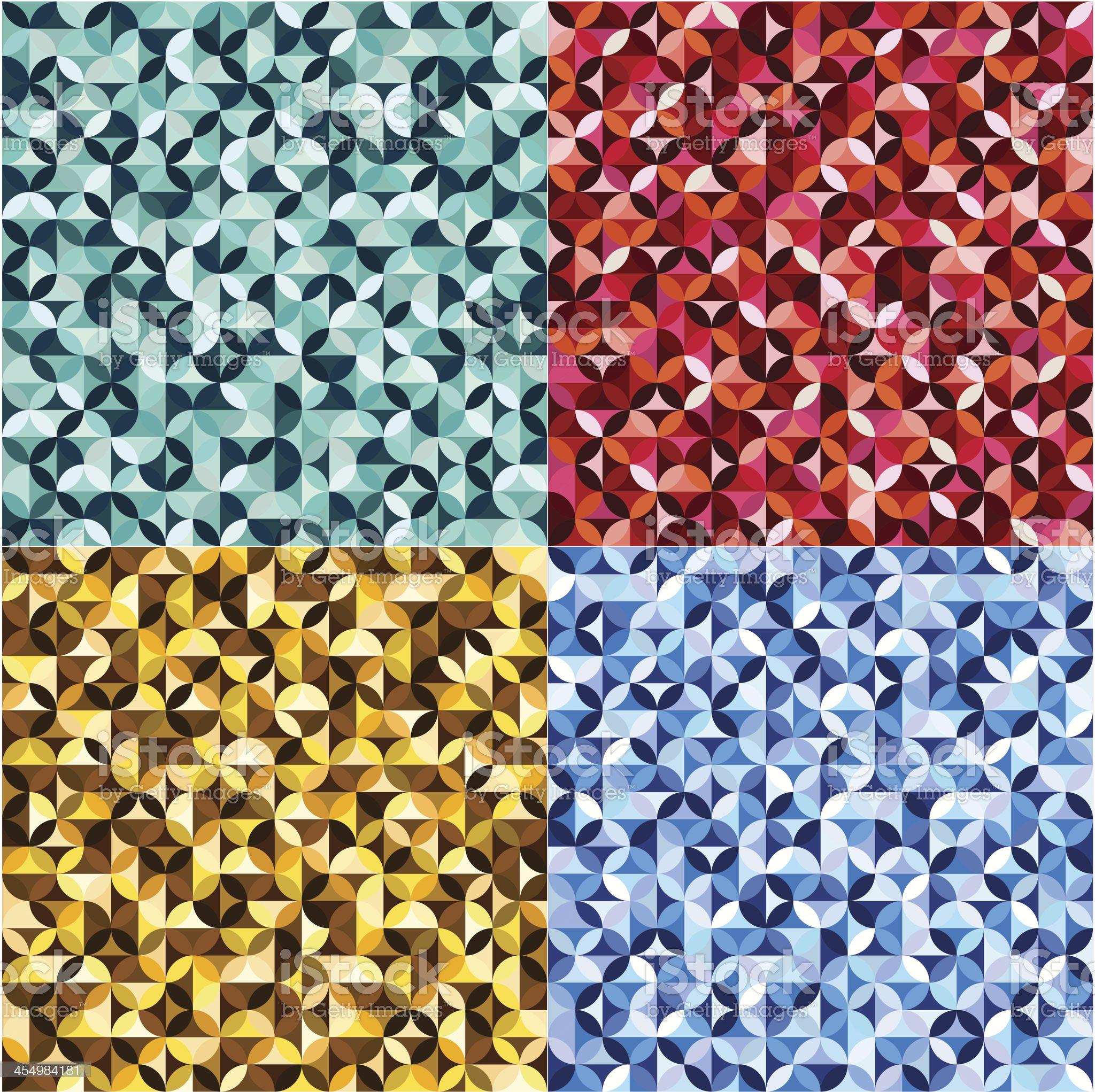 colorful seamless circles pattern royalty-free stock vector art