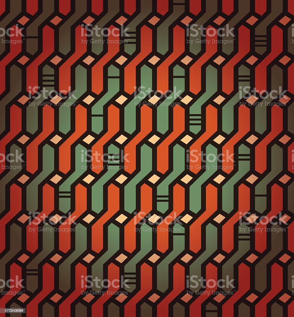 Colorful seamless geometric pattern royalty-free stock vector art