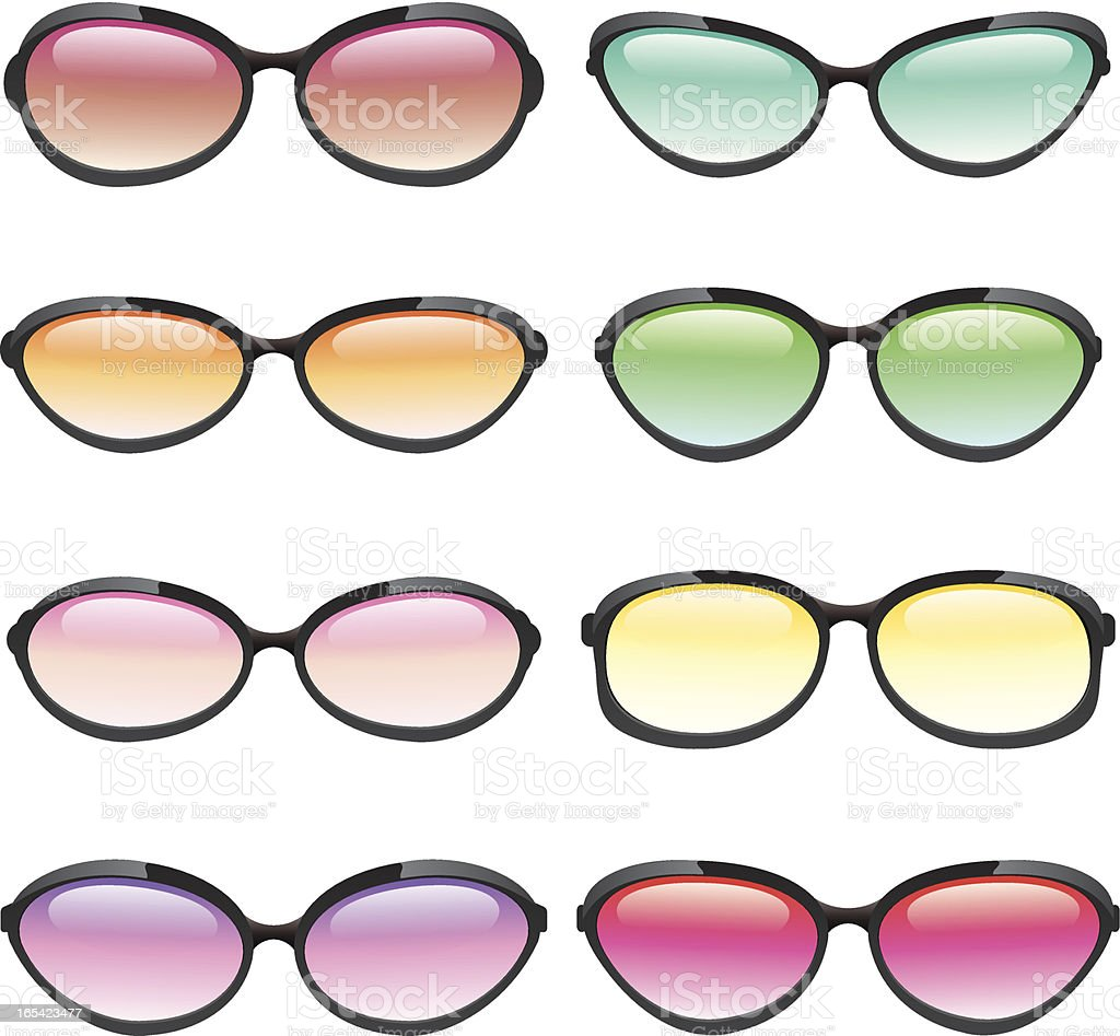 Colorful Set of Sunglasses royalty-free stock vector art