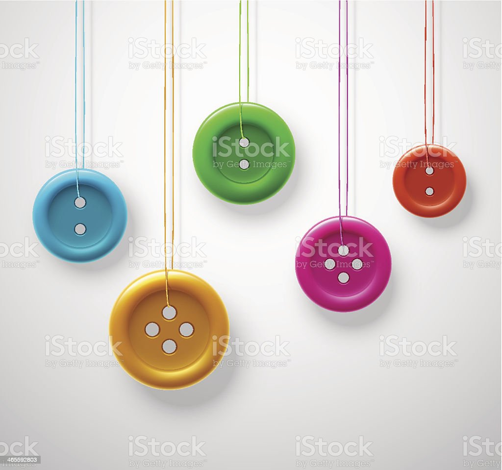 Colorful sewing buttons royalty-free stock vector art