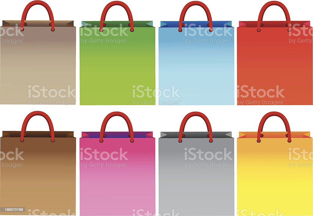 Colorful shopping bags royalty-free stock vector art
