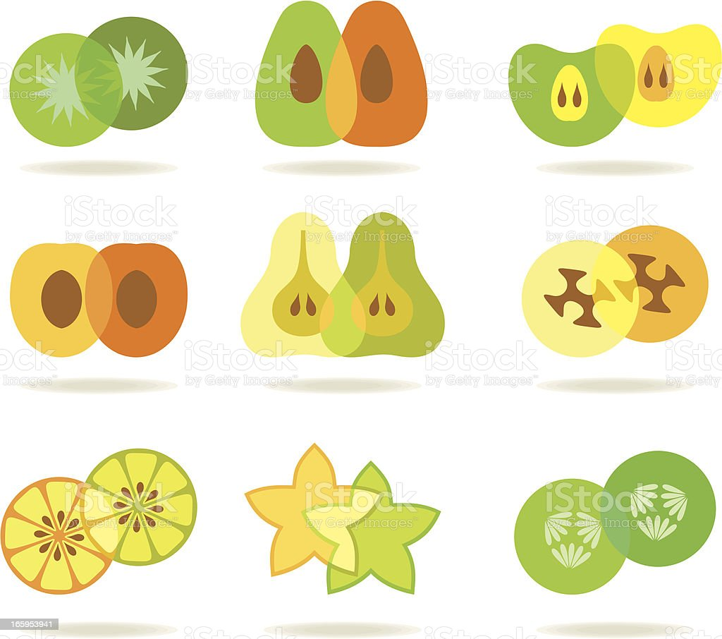 Colorful slices vector art illustration