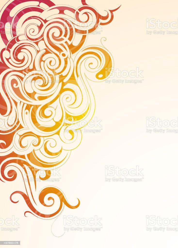 Colorful smoke vector art illustration