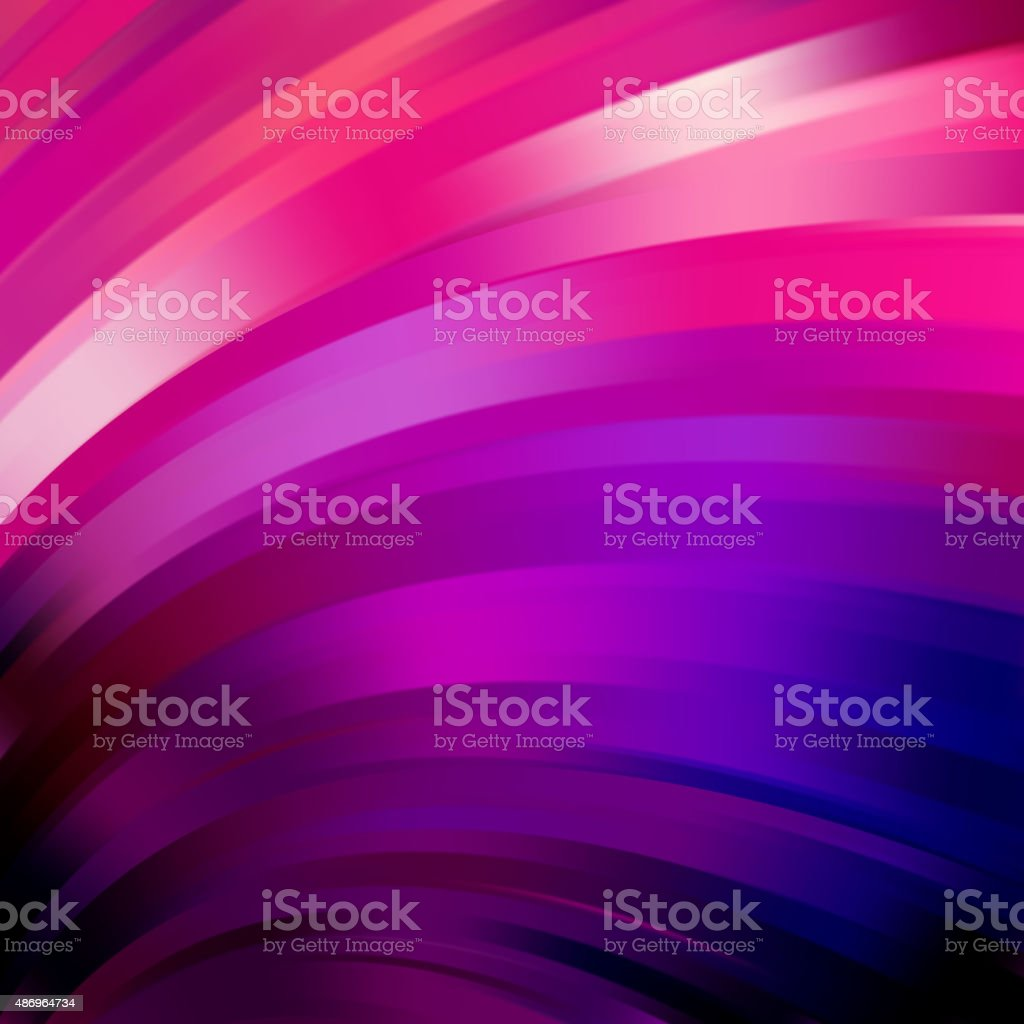 Colorful smooth light lines background, pink, purple, blue colors vector art illustration
