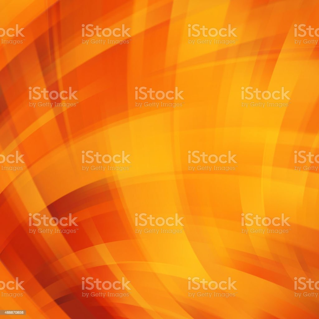 Colorful smooth light lines background. Yellow, orange colors. vector art illustration
