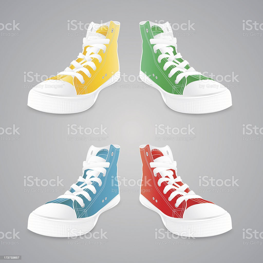 Colorful sneakers royalty-free stock vector art