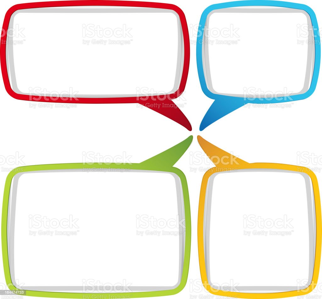 A colorful speech bubbles template  royalty-free stock vector art