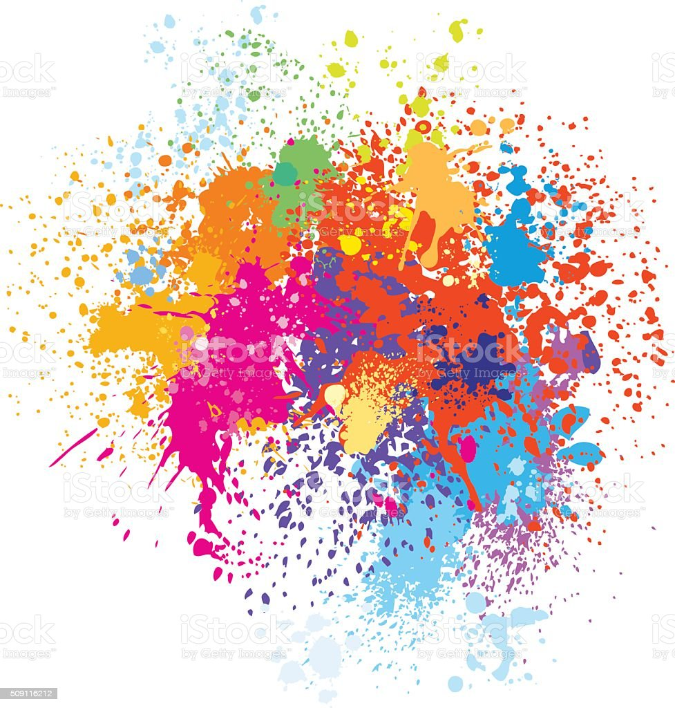 Colorful splash background vector art illustration