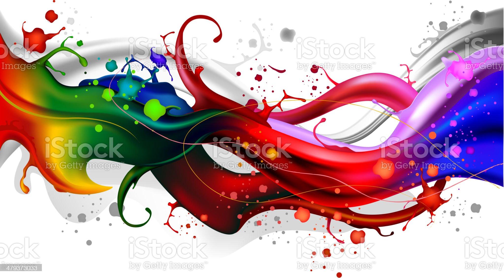 Colorful splash waves royalty-free stock vector art
