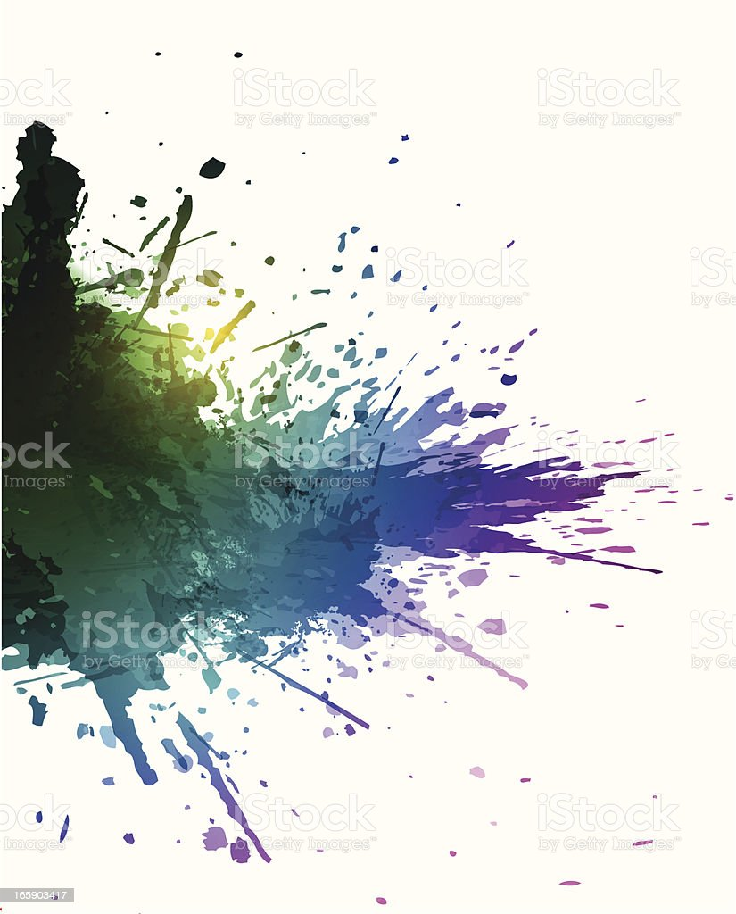 Colorful splashes royalty-free stock vector art