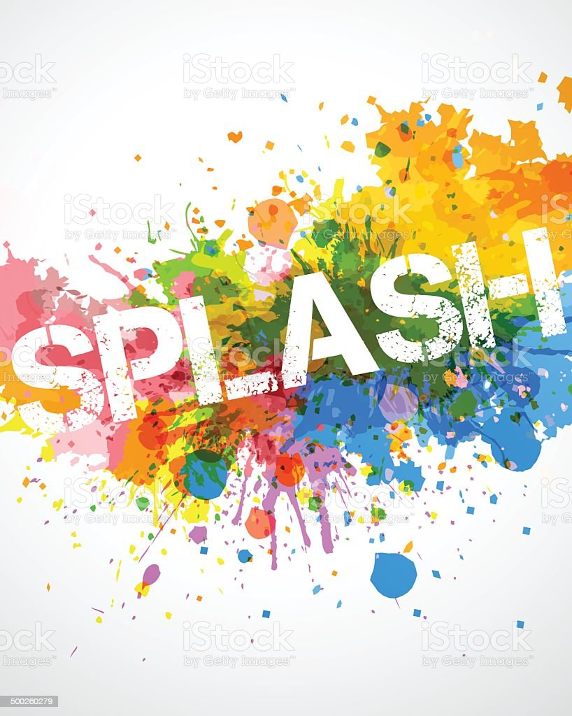 Colorful splashes vector art illustration