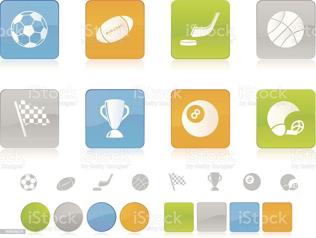 Colorful Sport Icons royalty-free stock vector art