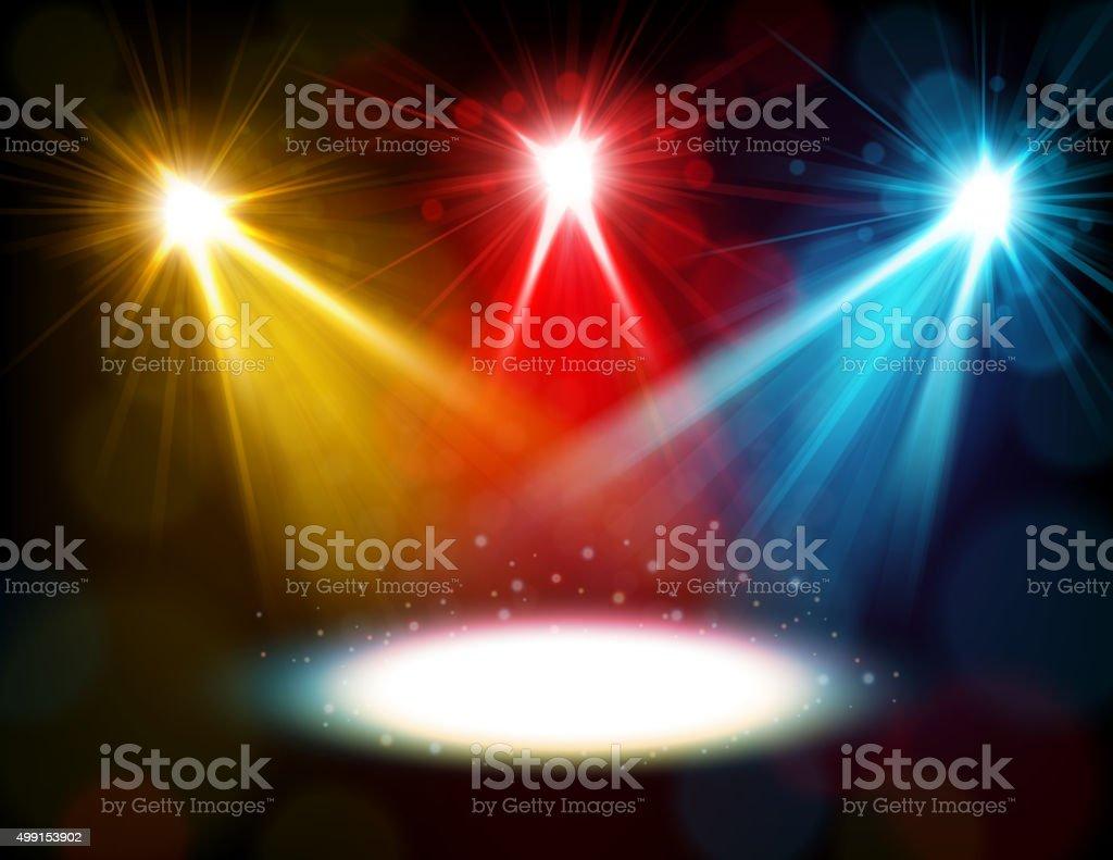 Colorful spotlight background vector art illustration