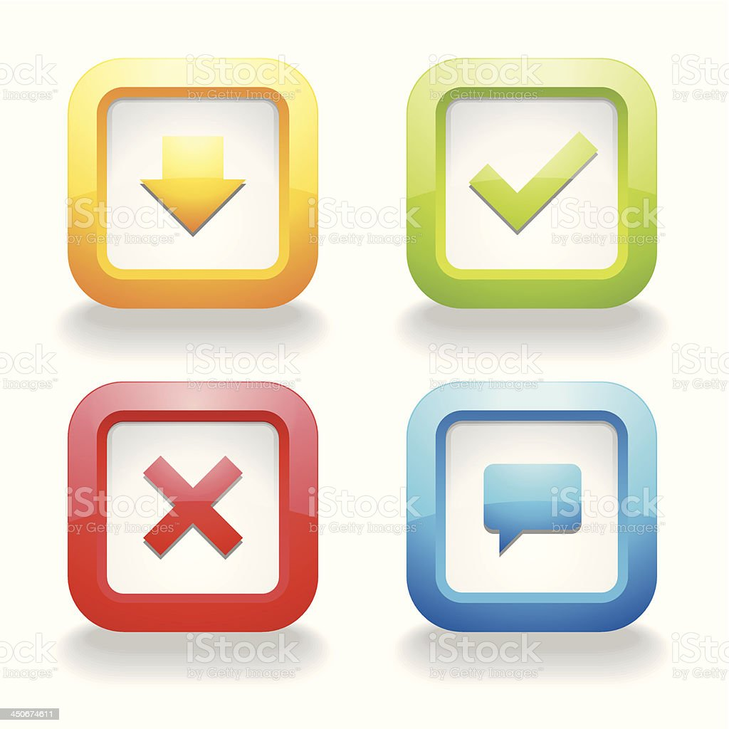 Colorful square buttons royalty-free stock vector art