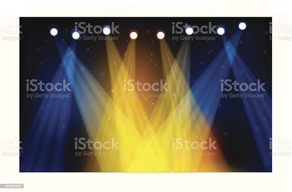 Colorful Stage Light vector art illustration