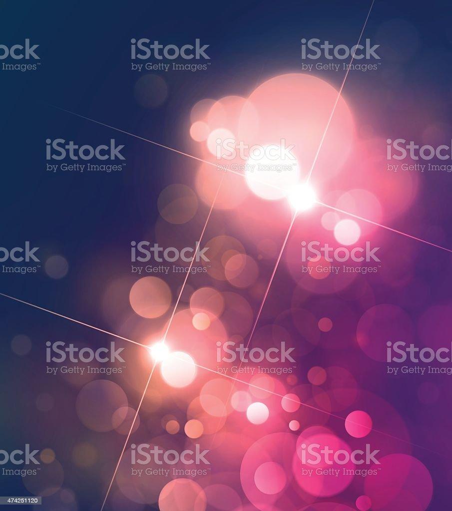 Colorful Star Light Bokeh Lens Flare Defocus Stock Vector Background vector art illustration
