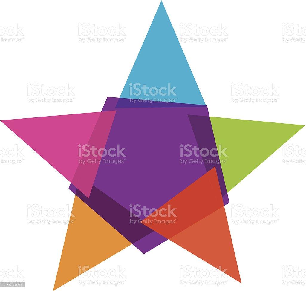 Colorful star social community vector illustration logo royalty-free stock vector art