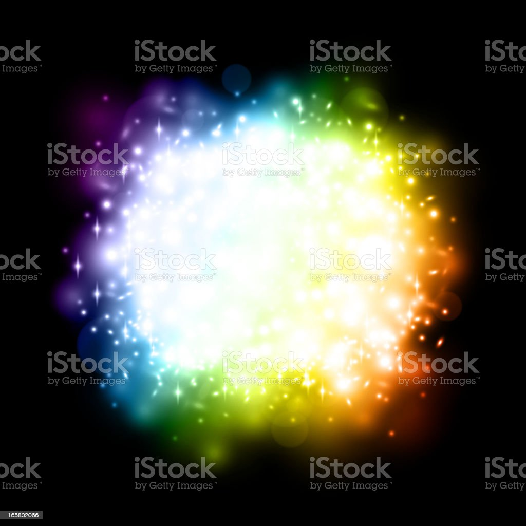 Colorful starburst royalty-free stock vector art