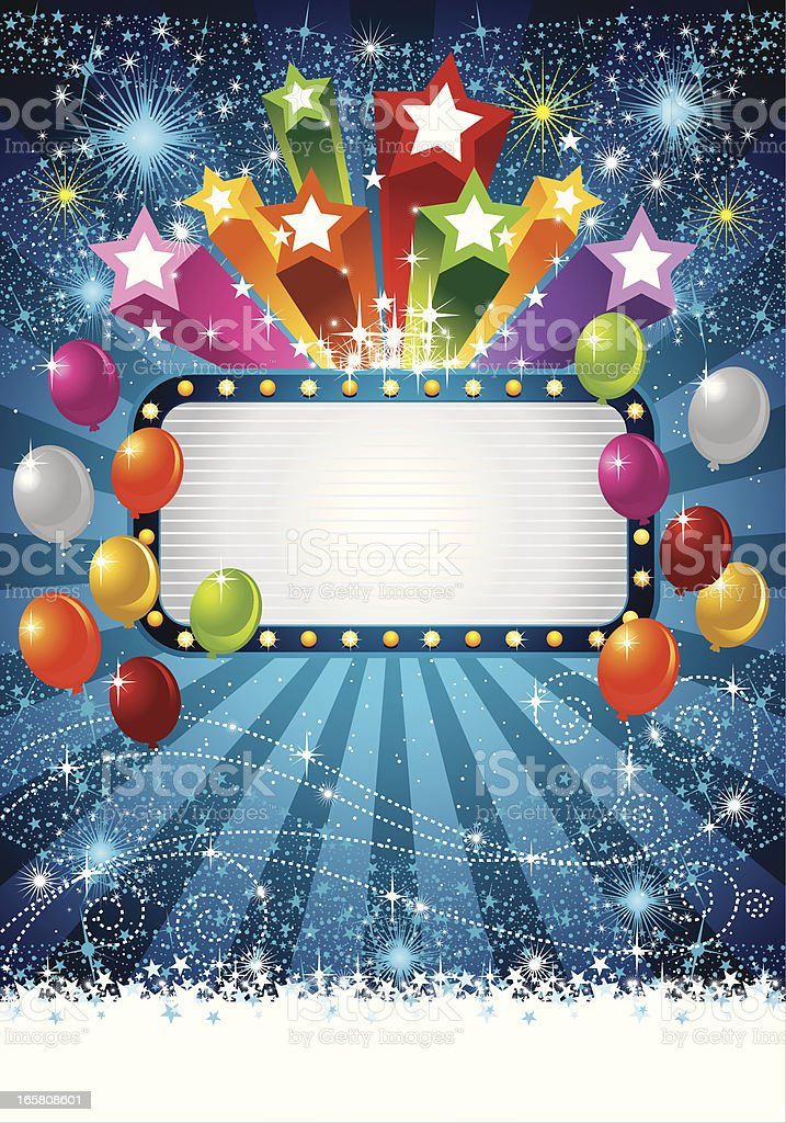 Colorful Stars And Balloons royalty-free stock vector art