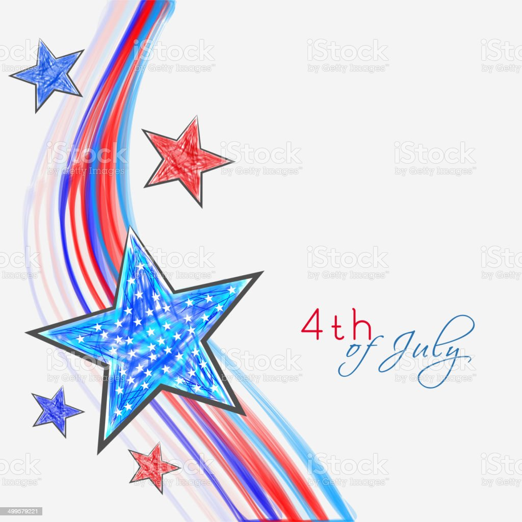 Colorful stars on national flag color waves background. royalty-free stock vector art