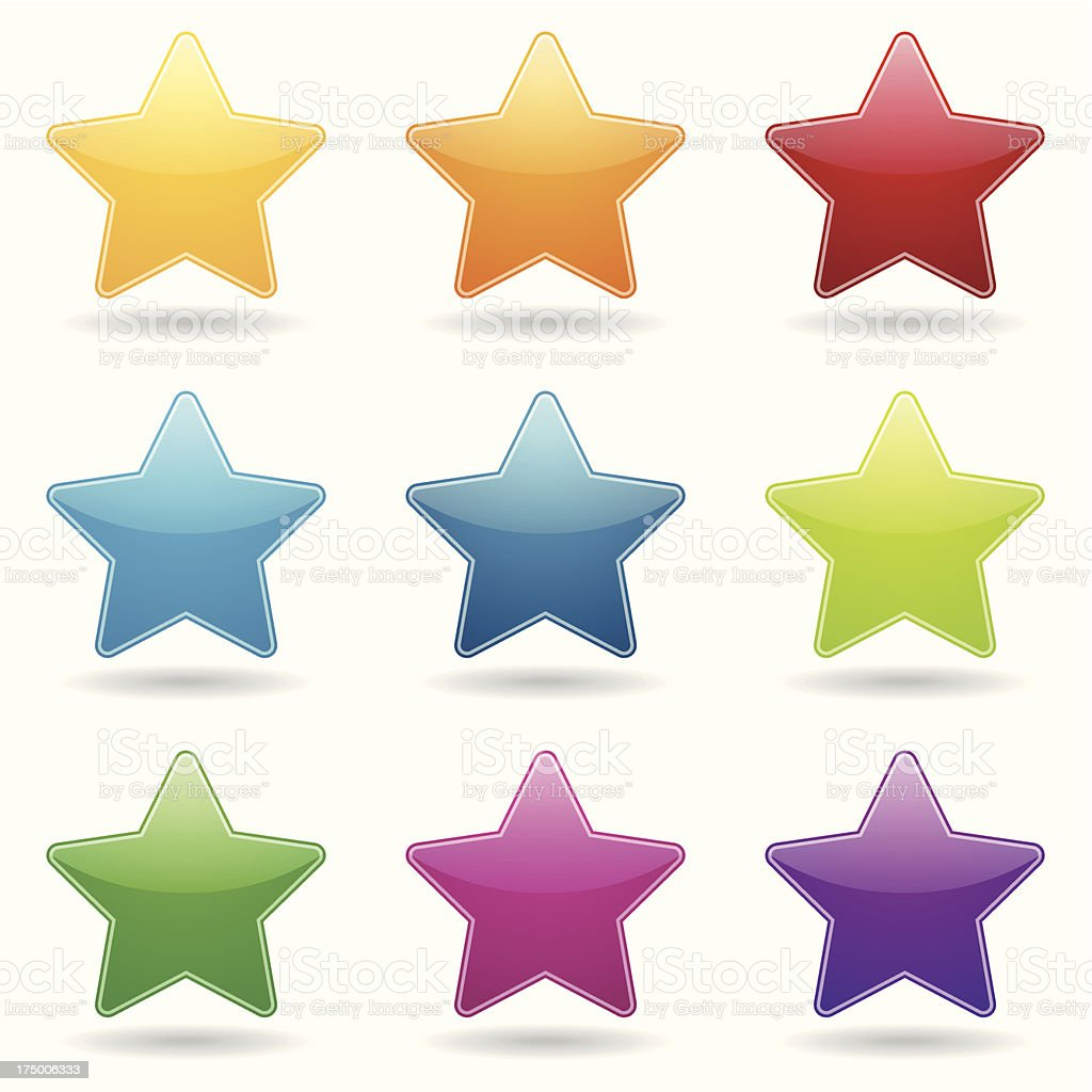 Colorful stars royalty-free stock vector art