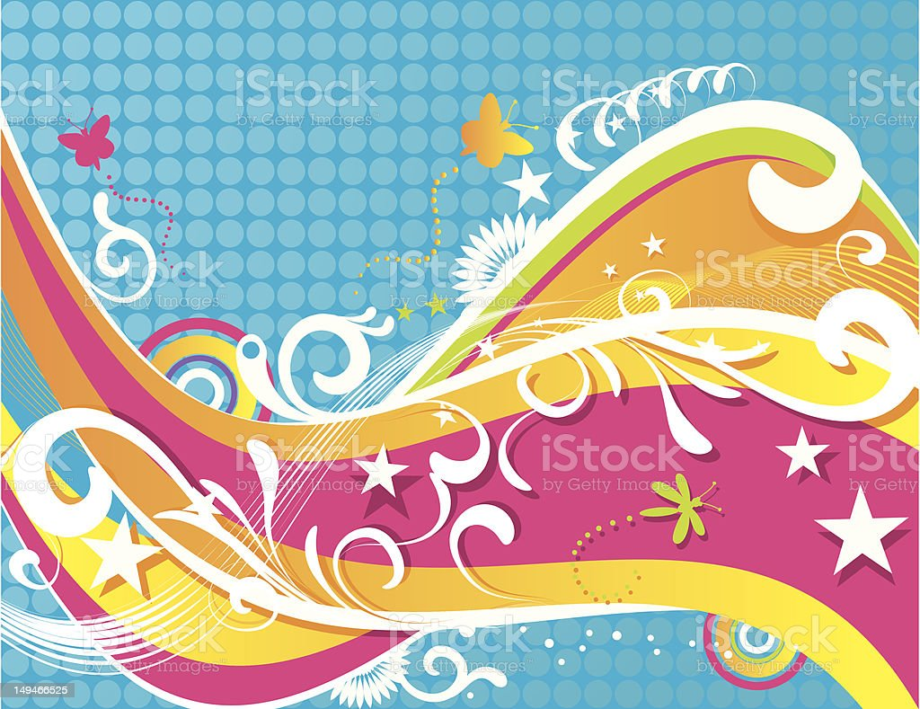 Colorful Summer Background royalty-free stock vector art