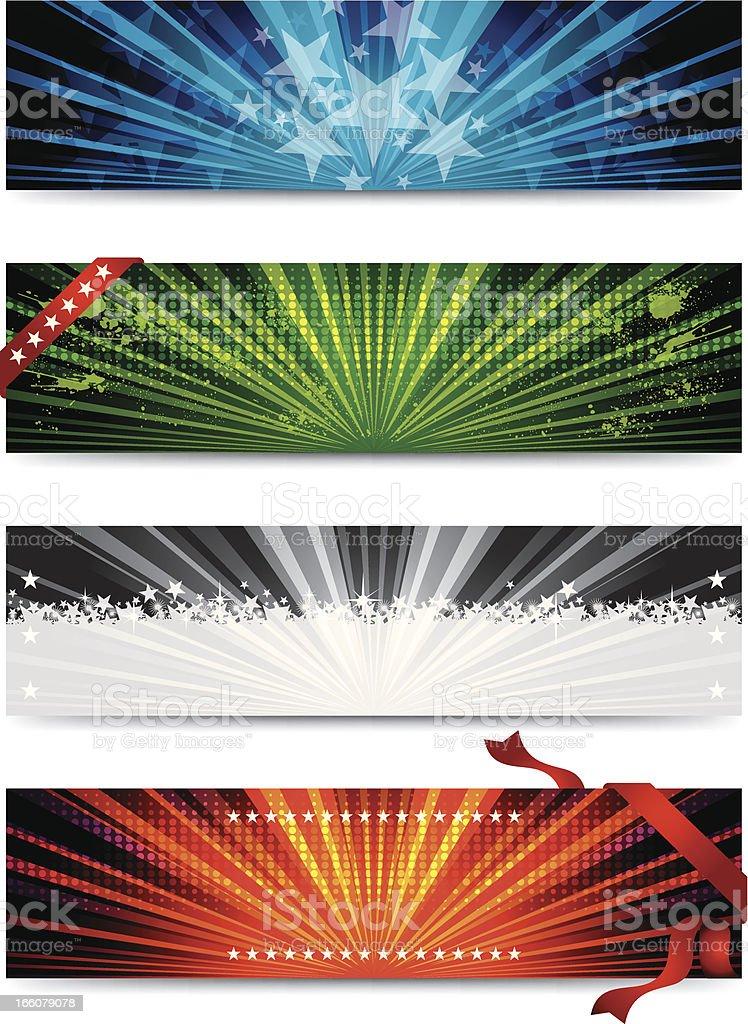 Colorful Sunshine Banner royalty-free stock vector art