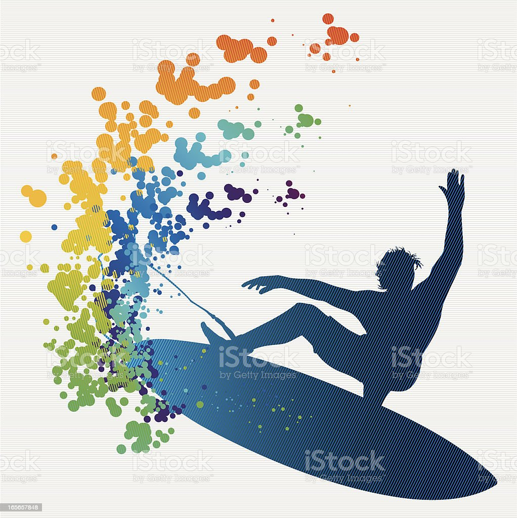colorful surfing royalty-free stock vector art