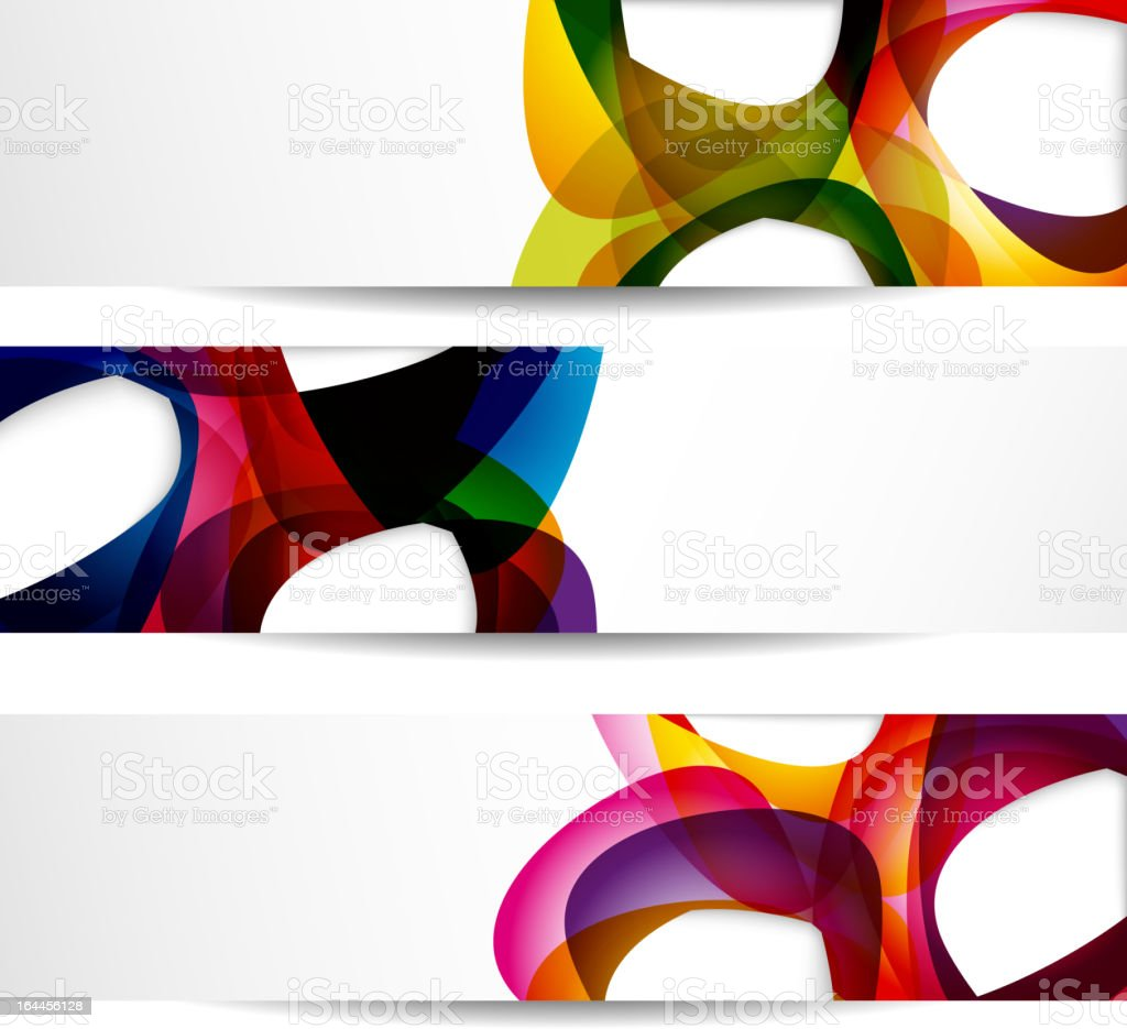 Colorful surreal banners for customization royalty-free stock vector art