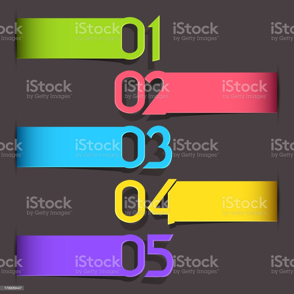 Colorful Tag for different Choice royalty-free stock vector art