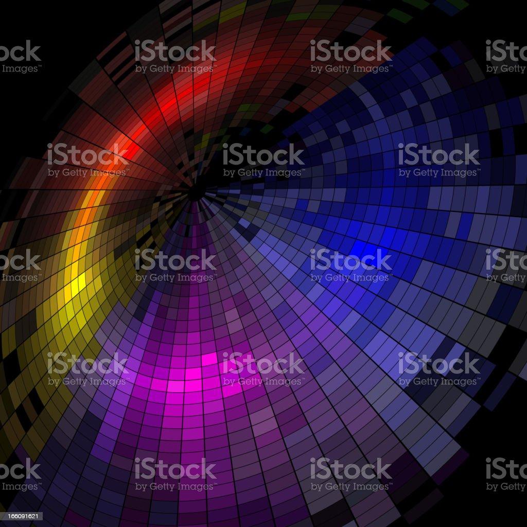 colorful technology background vector art illustration