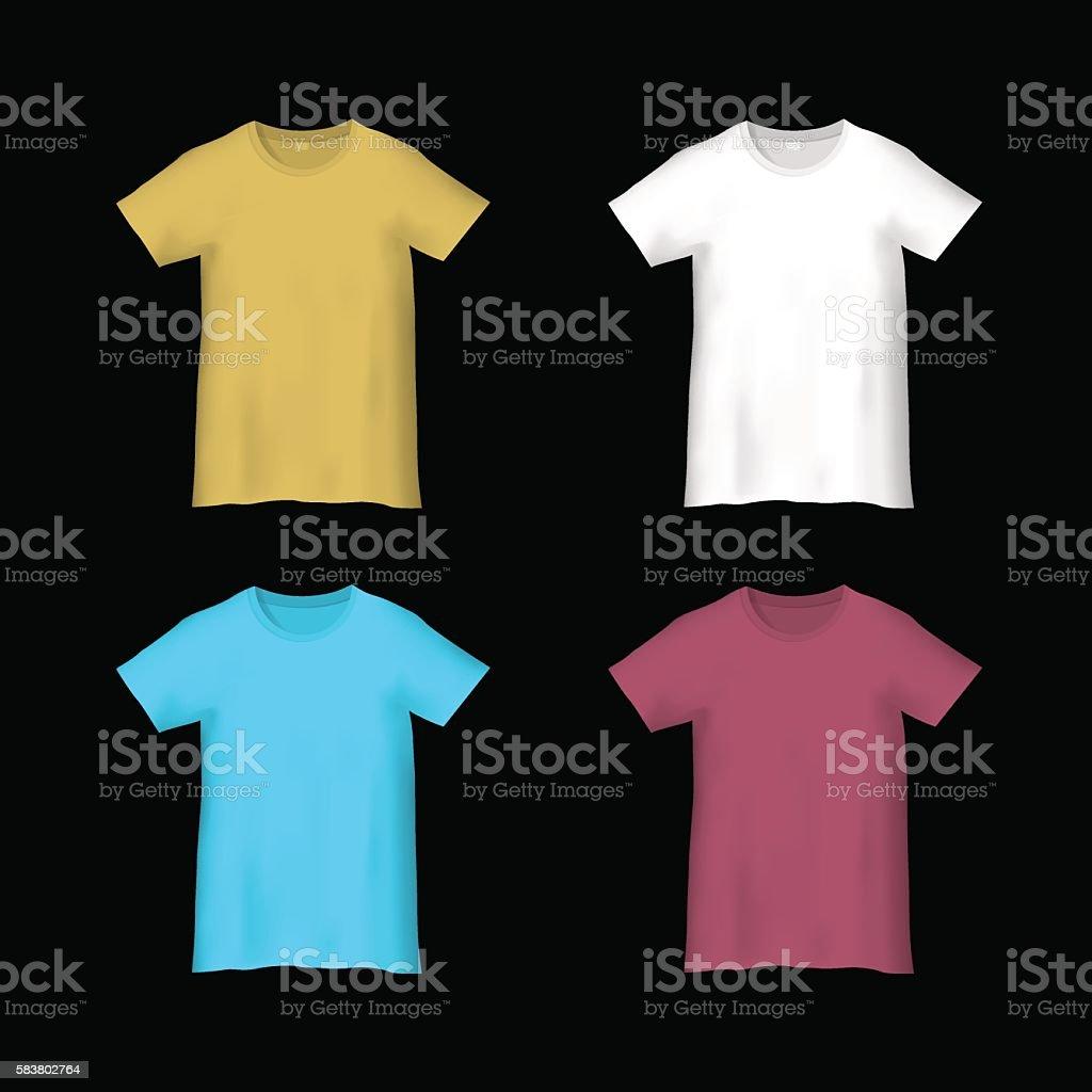 Colorful templates T-shirts vector art illustration