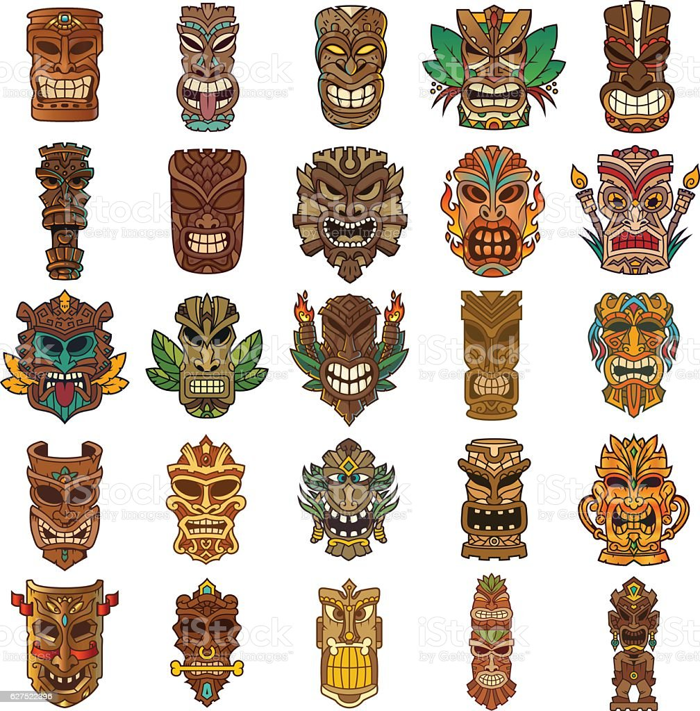 Tiki Clip Art Vector Images Amp Illustrations Istock