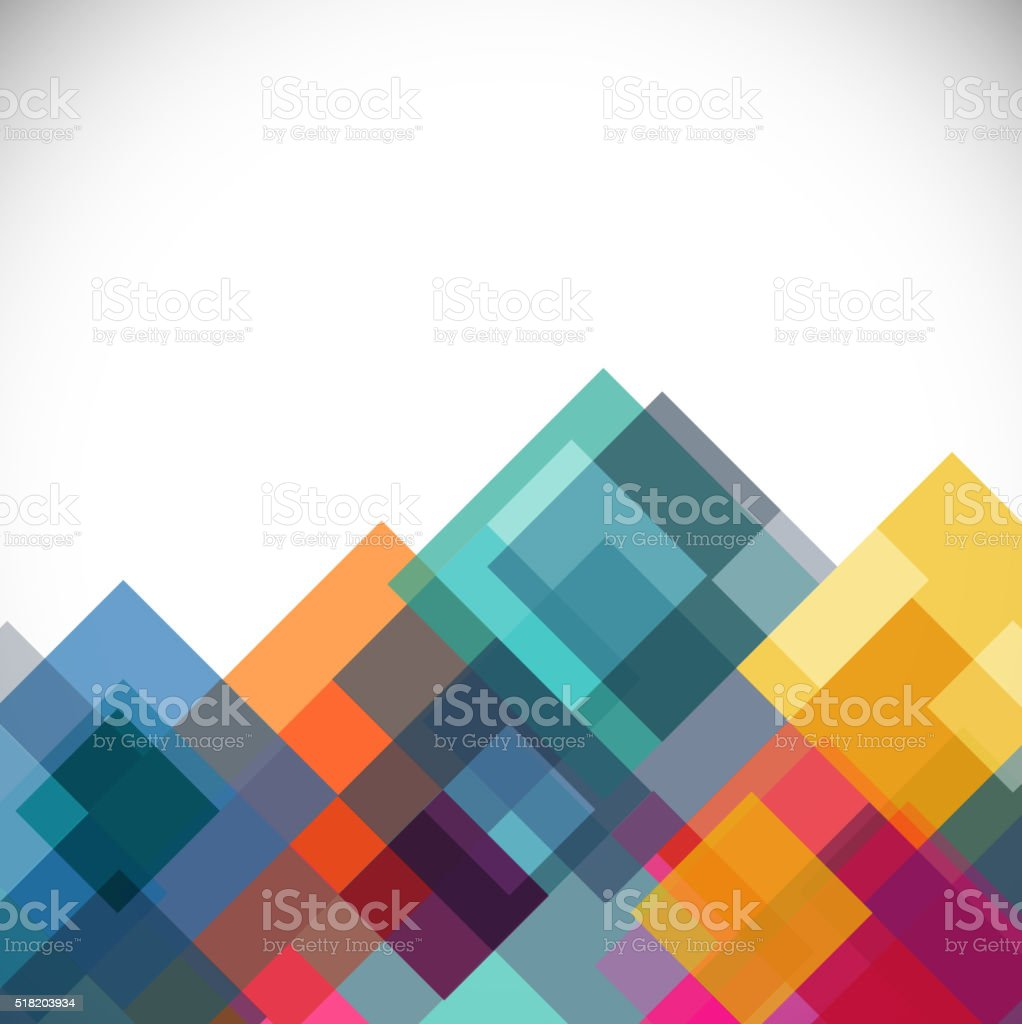colorful tranparent square modern template for business or tech vector art illustration