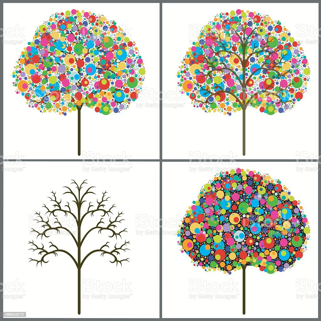 colorful trees royalty-free stock vector art